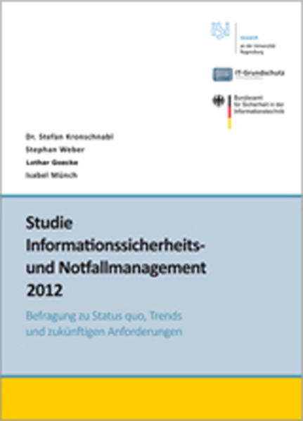 Studie Informationssicherheits- und Notfallmanagement-Standards - Coverbild