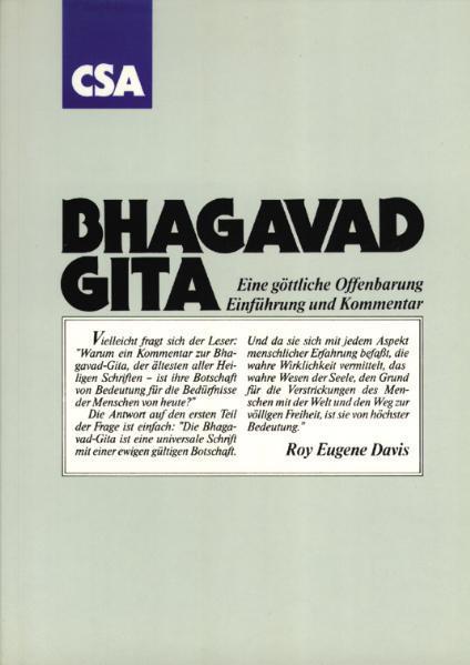 Bhagavad Gita - Coverbild