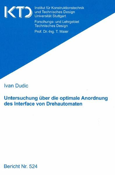 Untersuchung über die optimale Anordnung des Interface von Drehautomaten - Coverbild