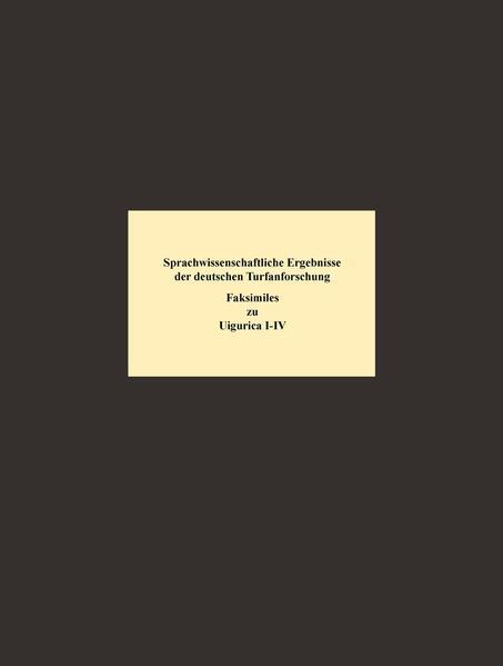 Sprachwissenschaftliche Ergebnisse der deutschen Turfan-Forschung - Coverbild