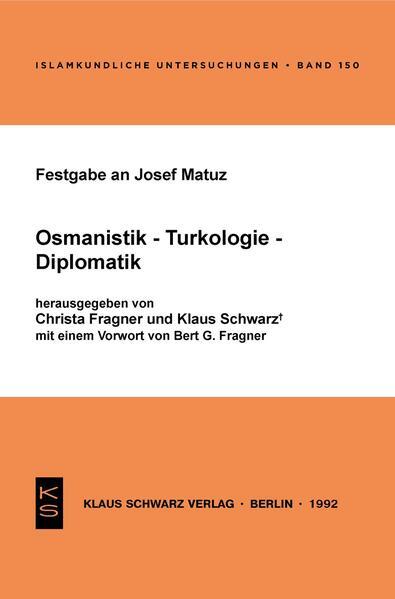 Festgabe an Josef Matuz - Coverbild