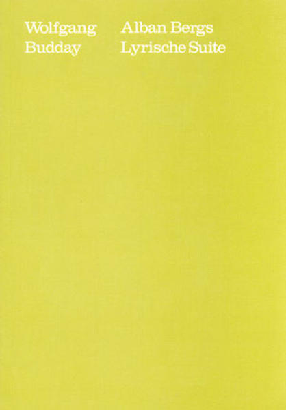 Alban Bergs Lyrische Suite - Coverbild
