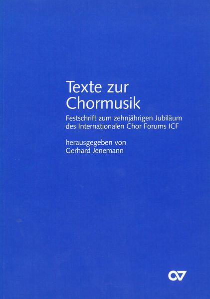 Texte zur Chormusik - Coverbild