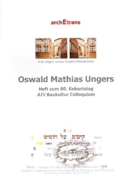 Oswald Mathias Ungers zum 80. Karlsruher AIV Miniaturen - Coverbild