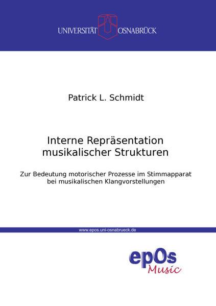 Interne Repräsentation musikalischer Strukturen - Coverbild