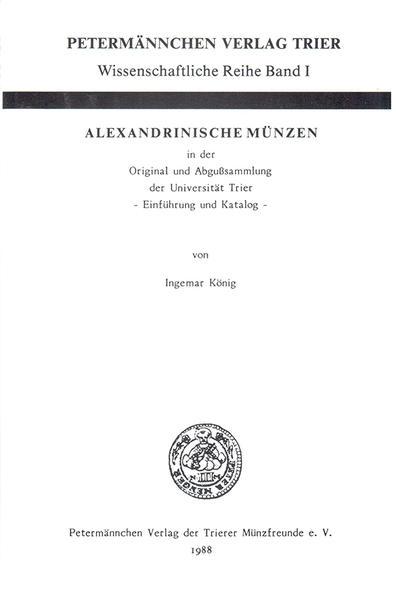 Alexandrinische Münzen - Coverbild