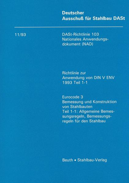 DASt-Richtlinie 103, Nationales Anwendungsdokument (NAD) - Coverbild
