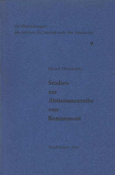 Studien zur Äbtissinnenreihe von Remiremont - Coverbild