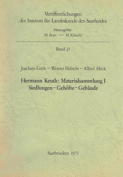 Hermann Keuth: Materialsammlung I - Coverbild