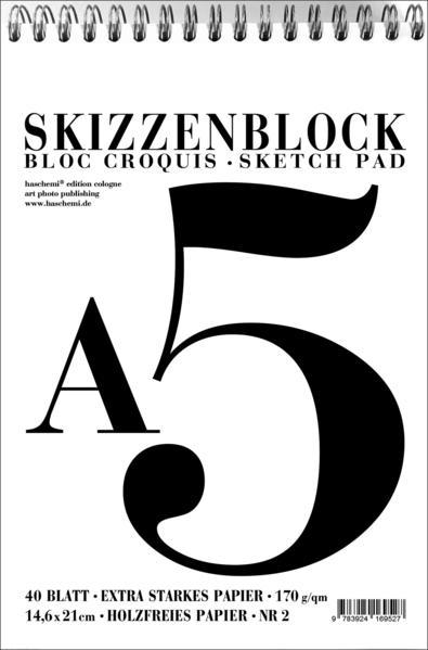 Skizzenblock - Bloc Croquis - Sketch Pad - Format A5 - NR. 02 - Coverbild