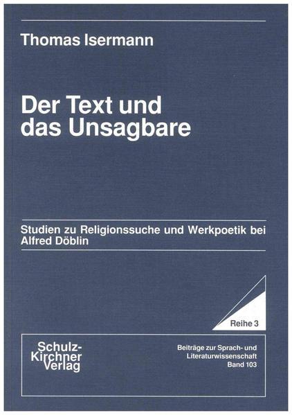 Der Text und das Unsagbare - Coverbild