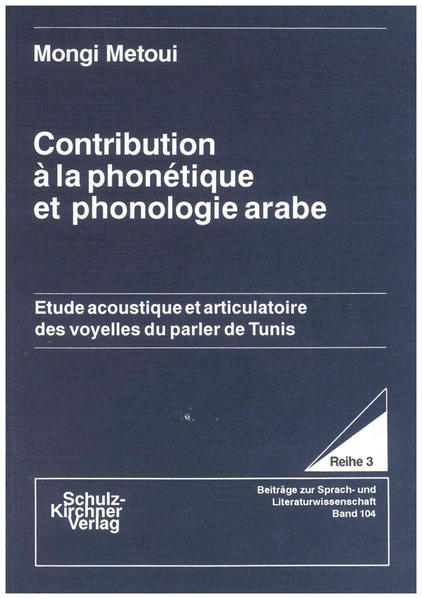 Contribution à la phonètique et phonologie arabe - Coverbild