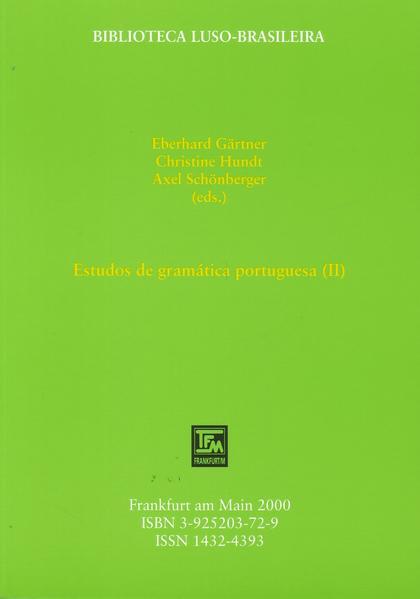 Estudos de gramática portuguesa / Estudos de gramática portuguesa (II) - Coverbild