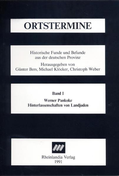 Hinterlassenschaften von Landjuden - Coverbild