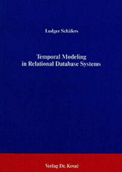 Temporal Modeling in Relational Database Systems - Coverbild