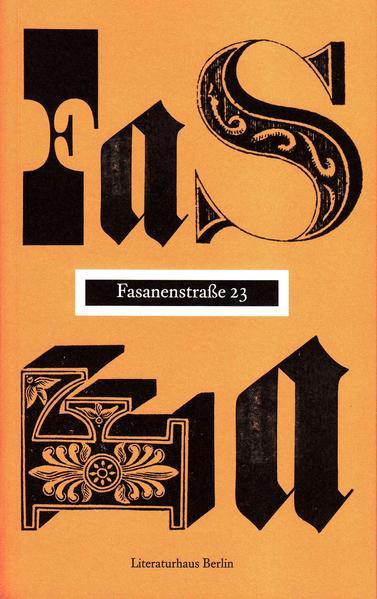 Fasanenstraße 23 - Coverbild