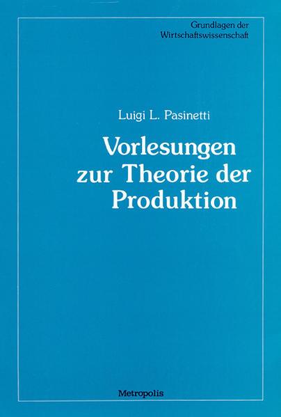 Vorlesungen zur Theorie der Produktion - Coverbild