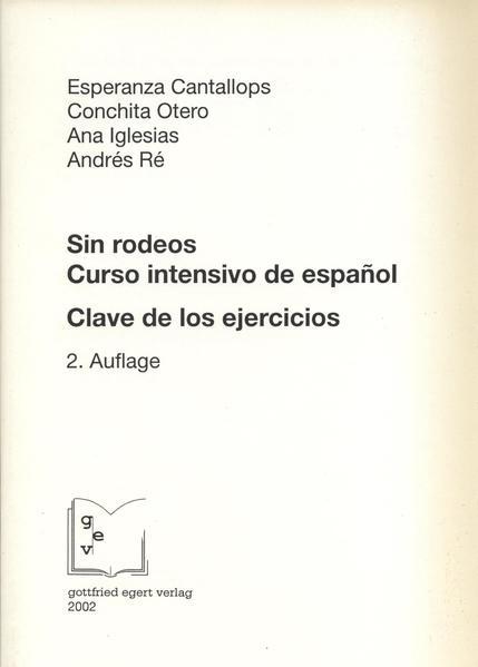 Sin rodeos. Curso intensivo de español - Coverbild
