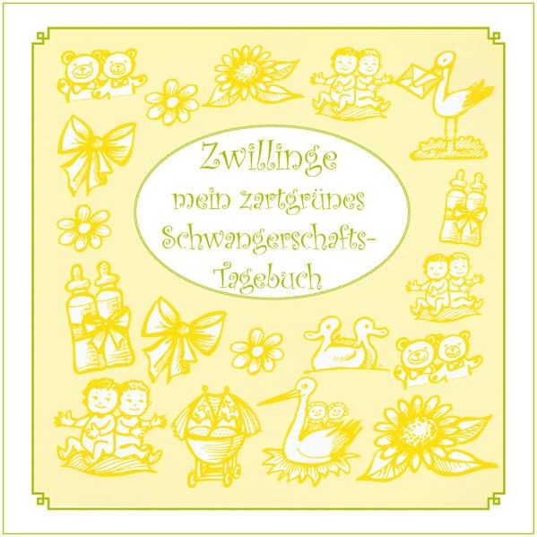 Zwillinge - mein zartgrünes Schwangerschafts-Tagebuch - Coverbild