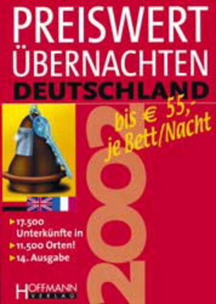 Preiswert Übernachten 2002 Deutschland. Bis Euro 55,- je Bett/Nacht - Coverbild