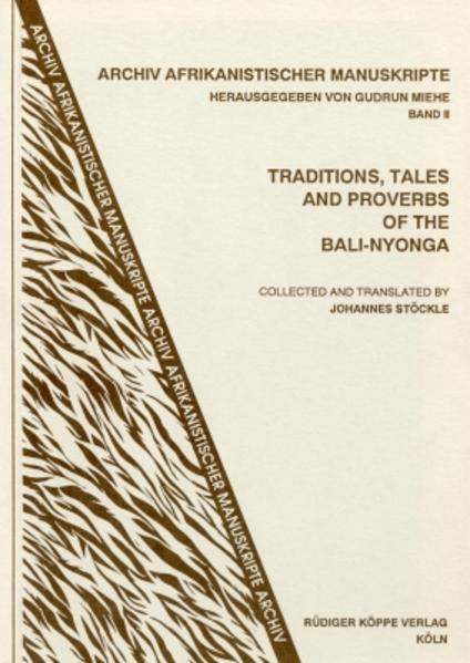 Traditions, Tales and Proverbs of the Bali-Nyonga - Coverbild