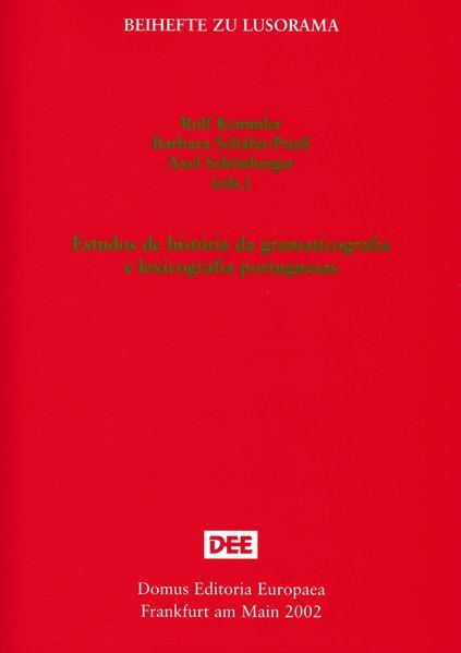 Estudos de história da grammaticografia e lexicografia portuguesas - Coverbild