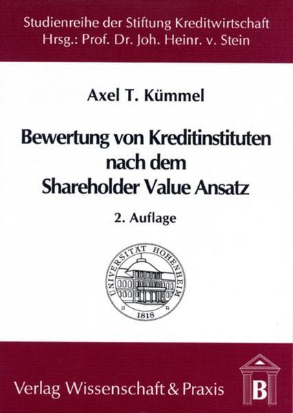 Die Bewertung von Kreditinstituten nach dem Shareholder Value Ansatz - Coverbild