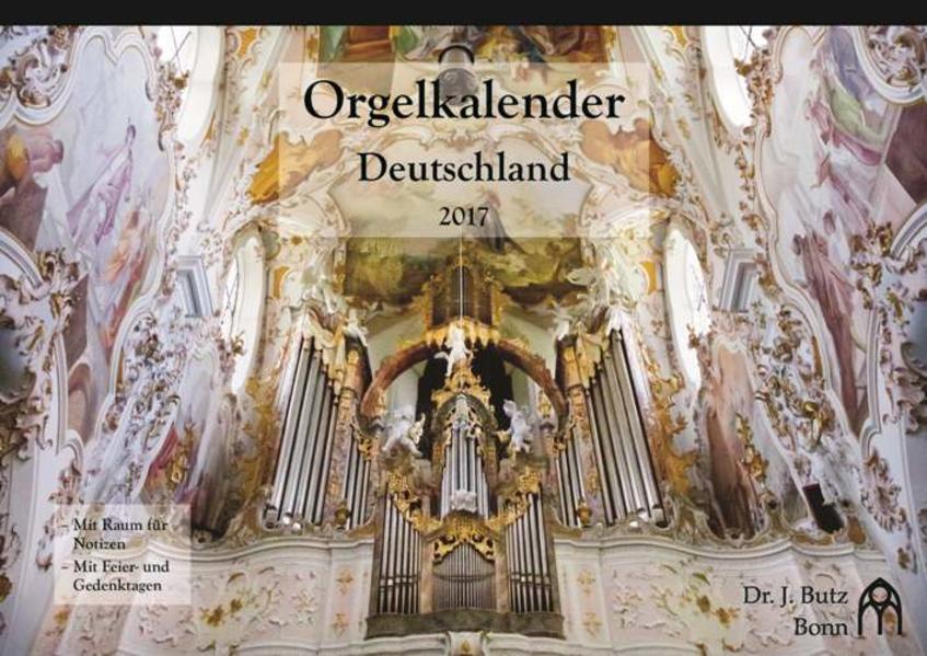 Orgelkalender Deutschland 2017 - Coverbild