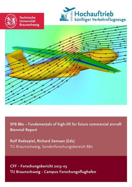 SFB 880 – Fundamentals of high-lift for future commercial aircraft - Coverbild