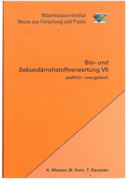 Bio- und Sekundärrohstoffverwertung VII - Coverbild