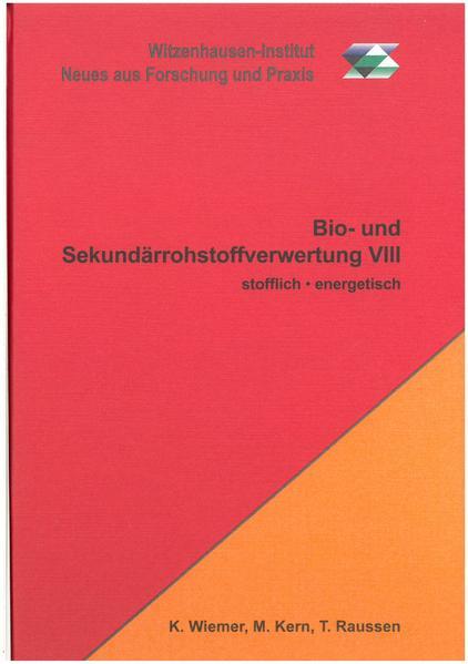 Bio- und Sekundärrohstoffverwertung VIII - Coverbild