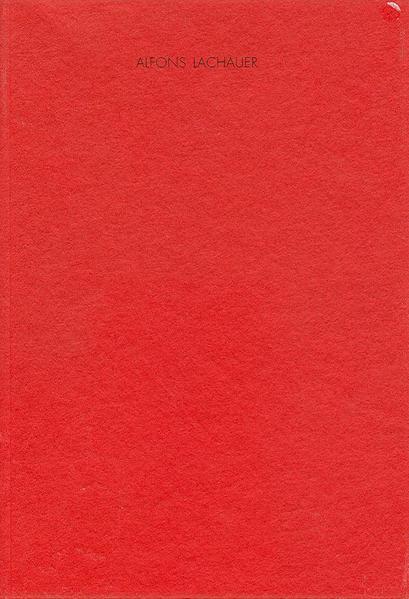 Alfons Lachauer - Coverbild