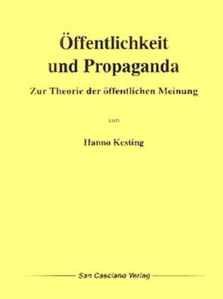 Öffentlichkeit und Propaganda - Coverbild