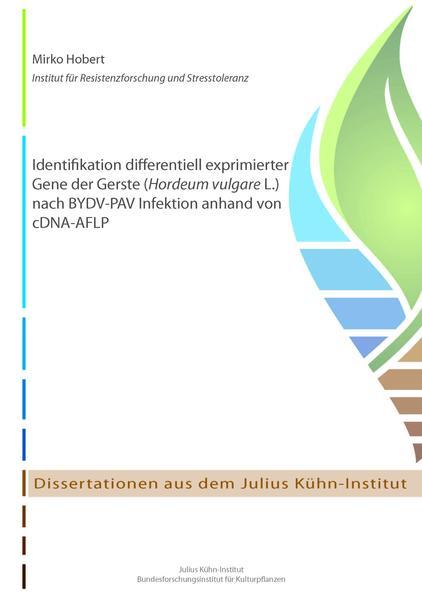 Identifikation differentiell exprimierter Gene der Gerste (Hordeum vulgare L.) nach BYDV-PAV Infektion anhand von cDNA-AFLP - Coverbild