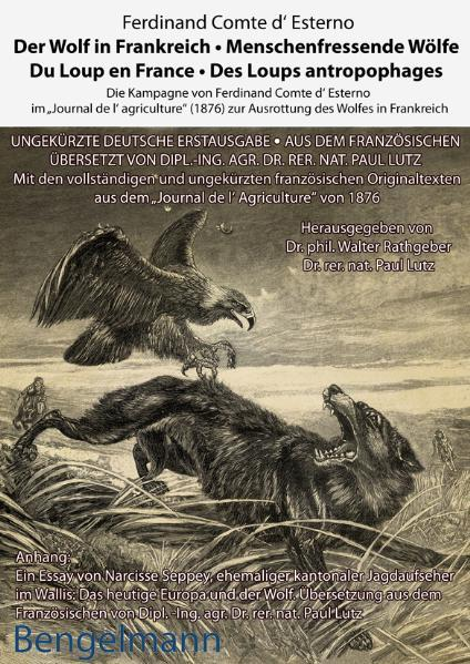 Der Wolf in Frankreich - Menschenfressende Wölfe. Du Loup en France -  Des Loups antropophages - Coverbild