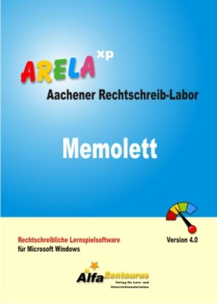 Aachener Rechtschreib-Labor - ARELA (Rahmenprogramm). Rechtschreibliche... / Memolett - Aachener Rechtschreib-Labor (ARELA) - Coverbild