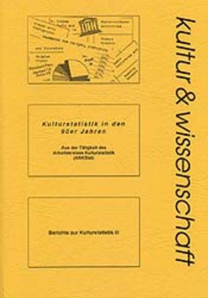 Kulturstatistik in den 90er Jahren - Coverbild