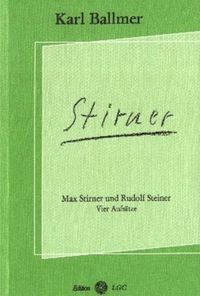 Max Stirner und Rudolf Steiner - Coverbild