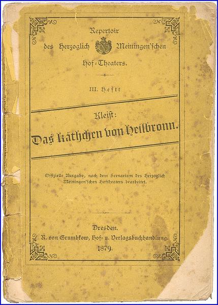 Das Käthchen von Heilbronn - Coverbild