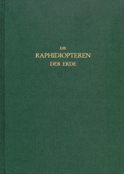 Die Raphidiopteren der Erde - Coverbild