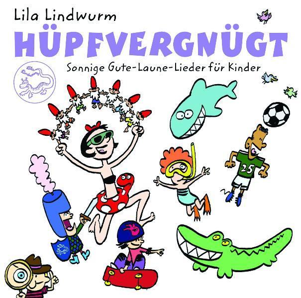 Lila Lindwurm - Hüpfvergnügt - Coverbild