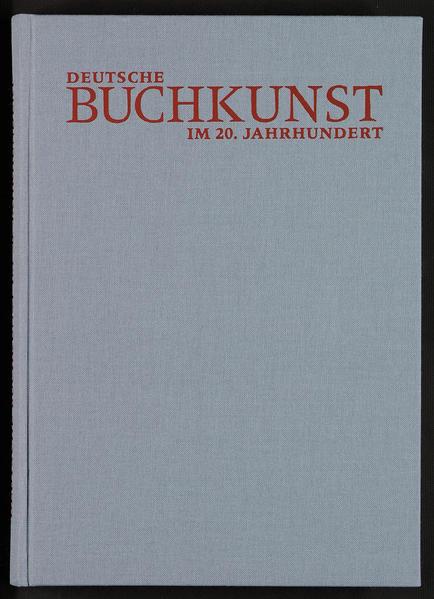 Deutsche Buchkunst im 20. Jahrhundert - Coverbild