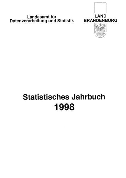 Statistisches Jahrbuch Brandenburg / Statistisches Jahrbuch Brandenburg 1998 - Coverbild