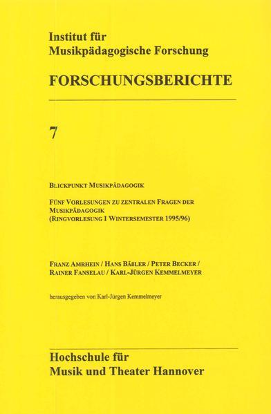Blickpunkt Musikpädagogik - Coverbild