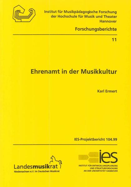 Ehrenamt in der Musikkultur - Coverbild