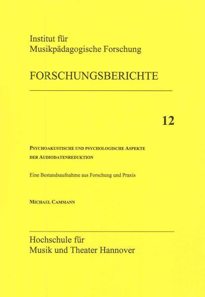 Psychoakustische und psychologische Aspekte der Audiodatenreduktion - Coverbild