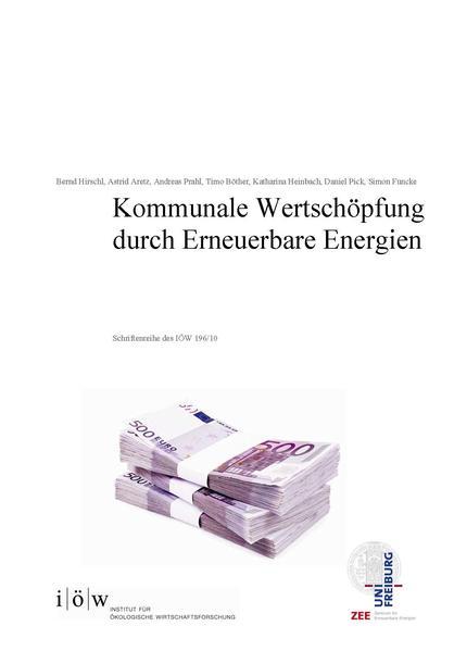 Kommunale Wertschöpfung durch Erneuerbare Energien - Coverbild