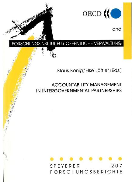 Accountability Management in Intergovernmental Partnerships - Coverbild
