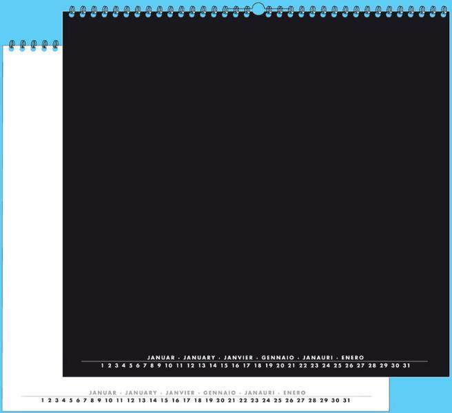 Foto- und Bastelkalender schwarz weiss matt für 30x40 Bilder Hoch und Quer - Coverbild