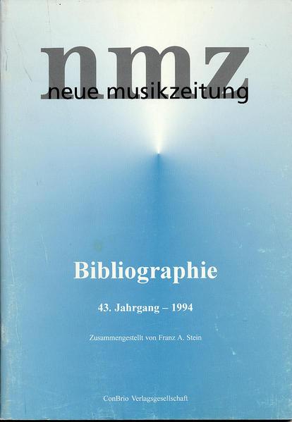 neue musikzeitung - Bibliographie - Coverbild
